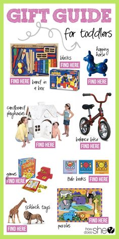 Over 100 Gift Ideas for Everyone on You List! // Gift Guide for Toddlers #howdoesshe
