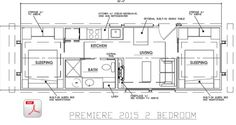 ESCAPE - Premiere Cabin Tiny Homes, 385sq.ft., two bedroom.