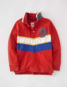 I've spotted this @BodenClothing Long Sleeve Piqué Polo Tomato