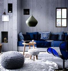Inbouwbank, woonkamer, blauw?