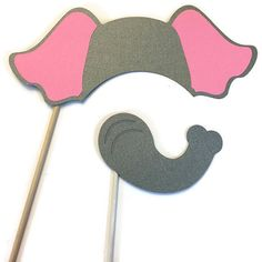 Photo Booth Props  Elephant 2 Piece  Set by CraftingbyDenise