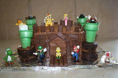 Bowser Castle Cake