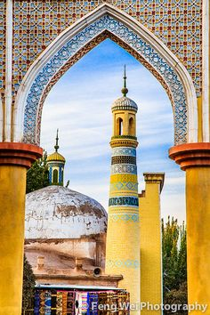 Id Kah Mosque @ Kashgar by Feng Wei Photography, via Flickr