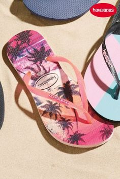Buy Havaianas® Pearl Pink Paisage Slim Flip Flop from the Next UK online shop