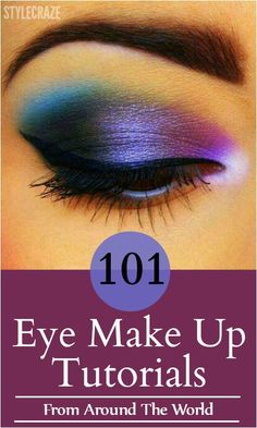 Here is a long list of our 101 top eye makeup tutorials compilation with a little description to help you carry them out with ease. Check these out and keep experimenting with eye makeup looks.