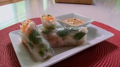 Roulés printaniers Fresh Rolls, Sushi, Ethnic Recipes, Food, New Recipes, Healthy Eating, Asian, Cooking Food, Essen