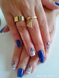 Unhas decoradas apaixonantes, veja as fotos Blue Nail Designs, Nail Polish Designs, Pastel Nails, Pink Nails, Trendy Nails, Cute Nails, Hair And Nails, My Nails, 4th Of July Nails