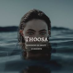 greek myth / thoosa thoosa / goddess of swift currents Cute Baby Names, Pretty Names, Unique Baby Names, Cool Names, Unusual Words, Weird Words, Rare Words, Greek Mythology Gods, Greek Gods And Goddesses