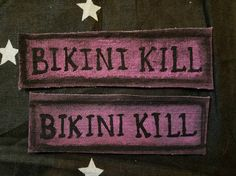 BIKINI KILL 90s Riot Grrrl Punk Patch