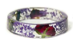 Bracelet Jewelry with Real Flowers Dried by ModernFlowerChild