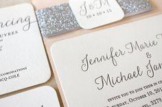 The Willow  Suite  Modern Letterpress Wedding von DinglewoodDesign