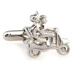 Silver couples motor bike cufflinks cu008832 USD $4.99