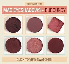 MAC Eyeshadow Swatches: Burgundy - Beauty Marked, Blackberry, Cranberry, Sketch, Star Violet, Deep Damson