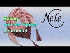 """Tuch stricken, Stricktuch """"Elfling"""" von der Spitze gearbeitet, DIY Anleitung by NeleC. - YouTube"""