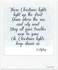 Christmas Lights - Coldplay <3 | #DREMXMAS | Pinterest | Coldplay ...