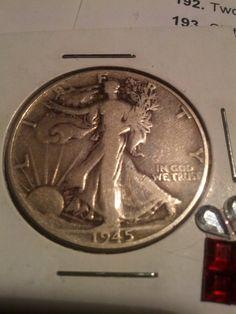 two Walking Liberty 1930s silver half dollar