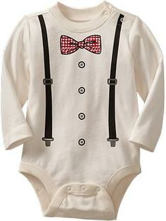 Shirt & Tie Graphic Bodysuits for Baby