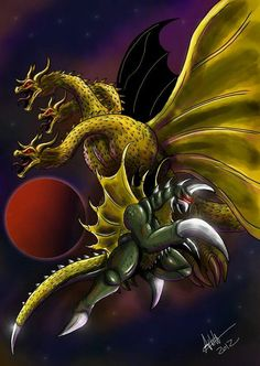 King ghidorah and gigan