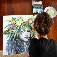 Stéphanie Ledoux Polynésie  Portrait Moorea