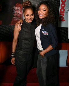 Janet Jackson & Gabrielle Union at her State Of The World Tour After Party: Brooklyn, NY 11/15/17