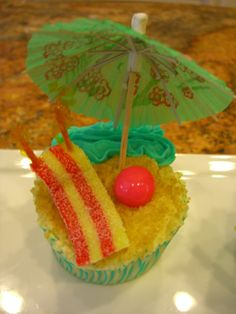 Life's a Beach Cupcakes (Palmabella's Passions) Fancy Dress Theme Ideas, Cup Cakes, Cupcake Cakes, Beach Cupcakes, Summer Beach Party, Good Food, Yummy Food, Cakes And More, Cake Ideas