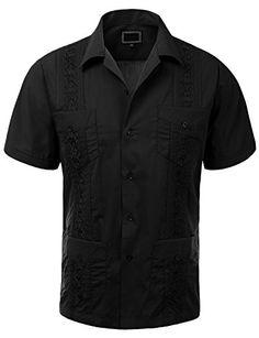 $32 shippedGuytalk Men's Cuban Guayabera Button-down Short Sleeve Shirt XL Black Guytalk http://www.amazon.com/dp/B010GC7P4U/ref=cm_sw_r_pi_dp_ZKwQvb05QGZZH