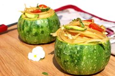 Vegano per amore - ricette vegane: ZUCCHINE ROTONDE RIPIENE