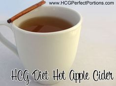 This HCG Diet recipe is safe for Phase 2 and counts as 1 fruit serving. This is the perfect recipe for the holidays. It's easy to make and enjoyable. Phase 2 Hcg Recipes, Hcg Diet Recipes, Yummy Recipes, Dieta Hcg, Hot Apple Cider, Dressing, Yummy Drinks, Diet Drinks, Beverages