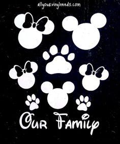Mickey Minnie Family car  window decal by Kreationz4kidzdotcom, $8.50
