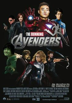 If running man were in the avengers! Yes!!! Except I would swap Gary and HaHa around because HaHa suits being a playboy millionaire SO much.