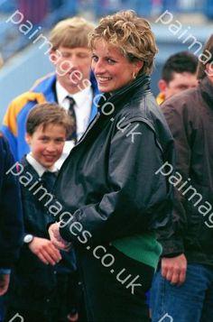"April 13, 1993: Princess Diana with Prince William and Ken Wharfe at ""Thorpe Park Amusement Park."""