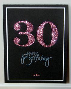 30th Birthday Card  Milestone Birthday  Custom  by GlitterInkCards, $4.00