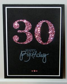 30th Birthday Card  Milestone Birthday  Custom  by GlitterInkCards, $4.00