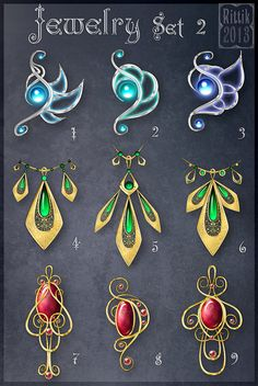 Jewelry Set 2 by Rittik-Designs on DeviantArt
