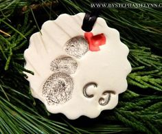 Fingerprint Ornaments- so many options with this idea!!!