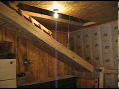 Gas Spring Assisted Retracting Staircase For Loft Attic