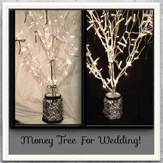Handmade Rustic Arizona Wedding | Money trees, Box and Gift