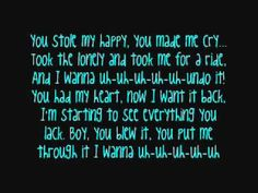 Carrie Underwood - Undo It{Lyrics} - YouTube
