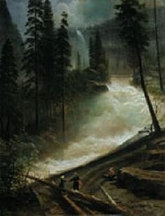 Nevada Falls, Yosemite National Park. Albert Bierstadt, Hudson River School Movement