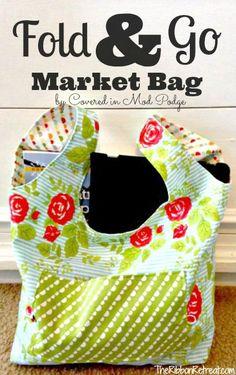 Fold and Go Market Bag - The Ribbon Retreat Blog