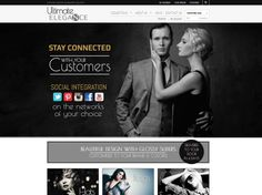 Ultimate Elegance is a clean and stylish #ecommercewebsite. With great features like Paypal integration, #socialmedia functionality and home page sliders, it will give your online #fashion #homewares or #furniture store that competitive edge.