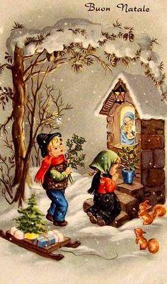 vintage christmas* Merry Xmas to