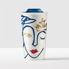 A ceramic traveler adorned with the trademark Starbucks® Siren and embellished with Swarovski® crystals. Part of the Starbucks® Anniversary Collect Starbucks Coffee Tumbler, Starbucks Drinkware, Starbucks Siren, My Starbucks, Starbucks Tassen, Coffee Cups, Tea Cups, La Coffee, Crystal Lips