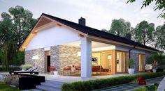 Passive Design, Craftsman House Plans, Small House Design, Terrace Garden, Small House Plans, Design Case, My Dream Home, Bungalow, Building A House