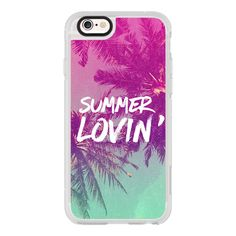 Pink Green Ombre Sunset Beach Tropical Palm Trees Summer Lovin'  -... ($40) ❤ liked on Polyvore featuring accessories, tech accessories, iphone case, iphone cases, green iphone case, iphone hard case, pink iphone case and apple iphone cases