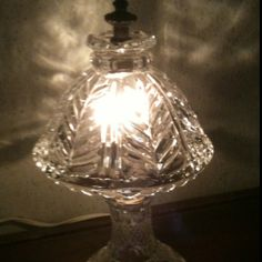 Crystal Clear Glass Lamp