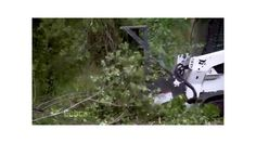 This Bobcat video (1:16 min) show's the company's forestry cutter attachment in action as it easily cuts and shreds small trees and shrubs