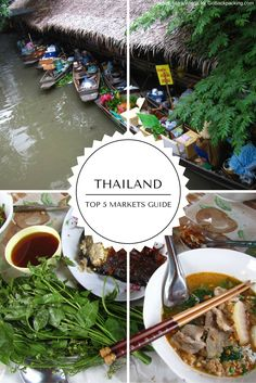 Must-See Markets in Thailand Guide: http://gobackpacking.com/5-must-see-floating-markets-in-thailand/  #Thailand #Asia #markets #food