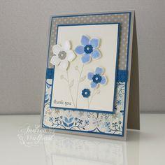 Stampin Up Card Folding Ideas | Stampin Up! Project Ideas - Andrea Walford, Sunny Stampin Blog ...