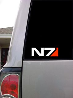 Mass Effect N7  21/4 x 7  Vinyl Decal / Sticker  2 by In2Creations, $3.79
